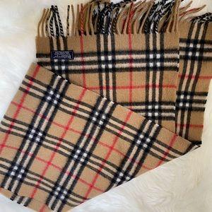 Authentic vintage Burberry cashmere scarf
